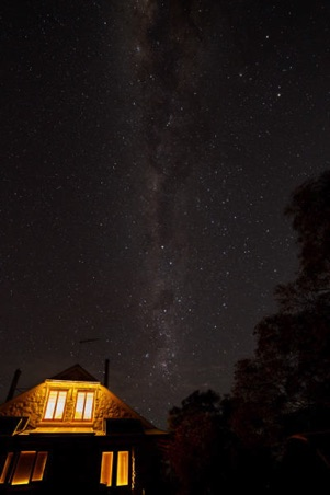 Milky Way over the Homestead Cottage.